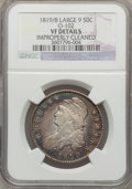 Bust Half Dollars, 1819/8 50C Large 9 -- Improperly Cleaned -- NGC Details. VF. O-102.NGC Census: (10/293). PCGS Population (10/206). Num...