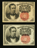 Fractional Currency:Fifth Issue, Fr. 1265 10¢ Fifth Issue Extremely Fine;. Fr. 1266 10¢ Fifth IssueVery Fine.. ... (Total: 2 notes)