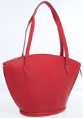 Luxury Accessories:Bags, Louis Vuitton Red Epi Leather Saint Jacques GM Tote Bag. ...