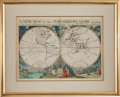 Books:Maps & Atlases, Edward Wells (1667-1727), cartographer and mathematician. A NewMap of the Terraqueous Globe according to the Ancient Di...