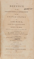 Books:Americana & American History, John Adams. A Defence of The Constitutions of Government of theUnited States of America, Against the Attack of M....(Total: 3 Items)