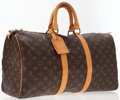 Luxury Accessories:Travel/Trunks, Louis Vuitton Classic Monogram Canvas Keepall 45 WeekenderOvernight Bag. ...
