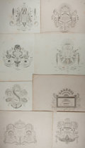 Books:Art & Architecture, [Composition Design Prints]. Group of Eight Lithograph Illustrations E xtracted from Midolle's Galerie. Compositions ave...