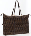 Luxury Accessories:Bags, Fendi Classic Zucca Monogram Canvas Oversize Tote Bag. ...