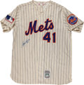 Baseball Collectibles:Uniforms, Tom Seaver Signed Flannel New York Mets Jersey....