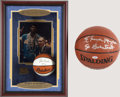 Basketball Collectibles:Balls, Elvin Hayes and John Wooden Signed Basketballs Lot of 2....