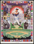 Baseball Collectibles:Others, Ted Williams Signed Poster....