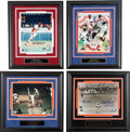 Baseball Collectibles:Photos, Collection of 5 Signed Baseball Photograph Displays & 2Unsigned. ...