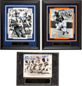 Football Collectibles:Photos, Football Greats Signed Photographs Lot of 21....