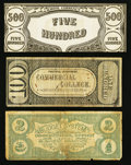 Obsoletes By State:Ohio, A Triumvirate of College Currency Notes.. ... (Total: 3 notes)