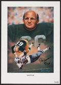 Football Collectibles:Photos, Fearsome Foursome and Green Bay Packers Greats Multi Signed Photographs and Prints Lot of 5....