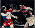 Boxing Collectibles:Autographs, Boxing Greats Signed Oversized Photographs Lot of 6....