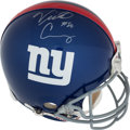 Football Collectibles:Helmets, Victor Cruz Signed New York Giants Authentic Full Size Helmet - Steiner....
