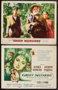 "Movie Posters:Drama, Green Mansions (MGM, 1959). Title Lobby Card & Lobby Card (11"" X 14""). Drama.. ... (Total: 2 Items)"