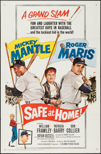 "Safe at Home (Columbia, 1962). One Sheet (27"" X 41""). Sports"