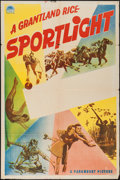 "Movie Posters:Sports, Grantland Rice Sportlight (Paramount, 1941). Stock One Sheet (27"" X 41""). Sports.. ..."