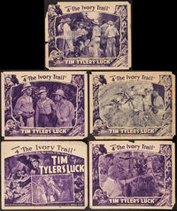 """Tim Tyler's Luck (Universal, 1937). Title Lobby Card & Lobby Cards (4) (11"""" X 14"""") Chapter 4 --""""The I..."""