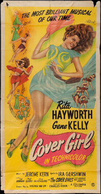 "Cover Girl (Columbia, 1944). Three Sheet (41"" X 79""). Musical"