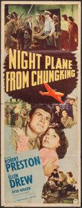 "Movie Posters:War, Night Plane from Chungking (Paramount, 1943). Insert (14"" X 36""). War.. ..."