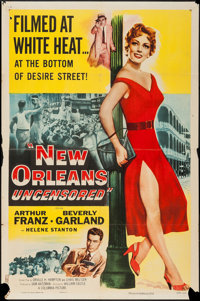 """New Orleans Uncensored (Columbia, 1955). One Sheet (27"""" X 41""""). Crime"""