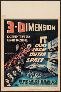 """It Came from Outer Space (Universal International, 1953). Trimmed Window Card (14"""" X 21"""") 3-D Style. Science F..."""