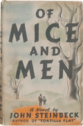 "Books:Literature 1900-up, John Steinbeck. Of Mice and Men. New York: Covici FriedePublishers, [1937]. First edition, first issue (with ""p..."