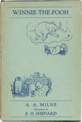Books:Children's Books, A.A. Milne. Winnie-the-Pooh. London: Methuen & Co.,Ltd., [1926]. First trade edition. ...