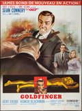 "Movie Posters:James Bond, Goldfinger (United Artists, R-1970s). French Grande (46"" X 62"").James Bond.. ..."