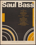 "Movie Posters:Mystery, Saul Bass Event Poster (The Architectural Panel, 1968). Poster (16""X 20""). Miscellaneous.. ..."