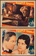 "Movie Posters:Crime, Temple Tower (Fox, 1930). Lobby Cards (2) (11"" X 14""). Crime.. ...(Total: 2 Items)"