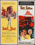 "Movie Posters:Adventure, Lord Jim & Other Lot (Columbia, 1965). Inserts (2) (14"" X 36""). Adventure.. ... (Total: 2 Items)"