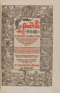 Books:Early Printing, [Bible]. La saincte bible en Francois, translatee selon la pure & entiere tradution de Sainct Hierome, dereschief confer...