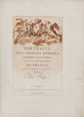 Books:Color-Plate Books, [Color-Plate Book]. Antoine-François Sergent-Marceau. Portraitsdes Grands Hommes, Femmes Illustres, et Sujets Mémorable...
