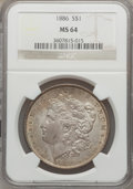 Morgan Dollars: , 1886 $1 MS64 NGC. NGC Census: (50480/26220). PCGS Population(40062/17215). Mintage: 19,963,886. Numismedia Wsl. Price for ...