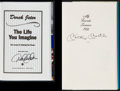 Baseball Collectibles:Publications, Derek Jeter and Mickey Mantle Signed Hardcover Books Lot of 2....