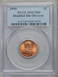 Lincoln Cents: , 1995 1C Doubled Die Obverse MS67 Red PCGS. PCGS Population(2789/2663). NGC Census: (9658/6247). Numismedia Wsl. Price for...