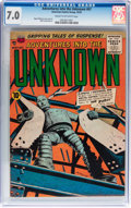 Golden Age (1938-1955):Science Fiction, Adventures Into The Unknown #67 (ACG, 1955) CGC FN/VF 7.0 Cream tooff-white pages....