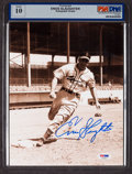 Baseball Collectibles:Photos, Enos Slaughter Signed Photograph PSA Gem Mint 10....