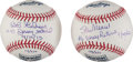 Baseball Collectibles:Balls, Stan Musial and Bob Gibson (Retirement Number Inscribed) Single Signed Baseballs Lot of 2....