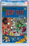 Bronze Age (1970-1979):Alternative/Underground, Rip Off Comix #1 (Rip Off Press, 1977) CGC VF/NM 9.0 Off-white towhite pages....
