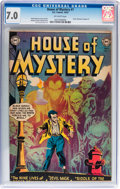 Golden Age (1938-1955):Horror, House of Mystery #7 (DC, 1952) CGC FN/VF 7.0 Off-white pages....