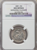 Seated Quarters: , 1889 25C -- Improperly Cleaned -- NGC Details. Unc. NGC Census:(0/154). PCGS Population (1/175). Mintage: 12,000. Numismed...