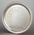 Silver Holloware, American:Trays, AN INTERNATIONAL SILVER CO. SILVER CIRCULAR TRAY . InternationalSilver Co., Meriden, Connecticut, 20th century. Marks: IN...
