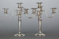 Silver Holloware, American:Candelabra, A PAIR OF TOWLE SILVER WEIGHTED FIVE-LIGHT CANDELABRA. TowleSilversmiths, Newburyport, Massachusetts, 20th century. Marks: ...(Total: 2 Items)