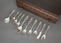 Silver & Vertu:Flatware, A ONE HUNDRED FIFTY-FOUR PIECE REED & BARTON LOVE DISARMED PATTERN SILVER AND SILVER GILT PARTIAL FLATWARE SERVICE... (Total: 154 Items)