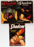 Pulps:Detective, Shadow Group (Street & Smith, 1935-38) Condition: AverageGD+.... (Total: 3 Items)