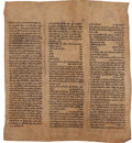 Books:Religion & Theology, [Judaica]. A Manuscript Torah Section. [Iraq: n.d., ca. 1600s]....