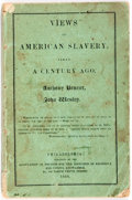 Books:Americana & American History, Anthony Benezet and John Wesley. Views of American Slavery,Taken a Century Ago. Association of Friends for the ...