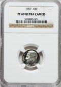 Proof Roosevelt Dimes, 1957 10C PR69 Ultra Cameo NGC....