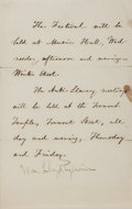 Autographs:Celebrities, American Abolitionist William Lloyd Garrison Autograph Note....